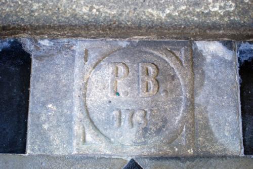Kámen označující místo posledního odpočinku Petra Brandla